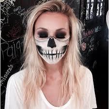 half skull glam halloween makeup