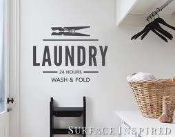 Wall Decal Quote Laundry 24 Hours Wall Decal Laundry Room Etsy