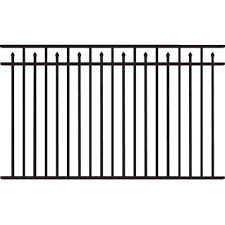 150 200 Metal Fence Panels Metal Fencing The Home Depot