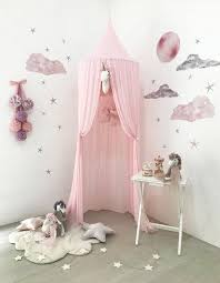 Kids Princess Canopy Bed Curtain Canopy Room Decoration Baby Round Mosquito Net Ebay