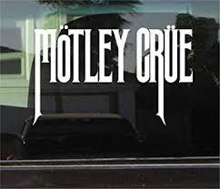 Amazon Com Yilooom Bumper Sticker For Cars Trucks Laptops Motley Crue 8 Inch Vinyl Decal Sticker Automotive