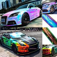New Glossy Rainbow Magic Mirror Chameleon Chrome Car Vinyl Wrap Decal Sticker Ab Ebay