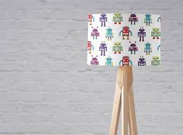 Robot Lamp Robot Nursery Boys Nursery Decor Boys Table Lamp Kids Ceiling Light Children S Lamps Robot Bedroom Robot Gift Lampshades Kids Ceiling Lights Childrens Lamps Nursery Decor Boy