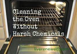 clean the oven without harsh chemicals
