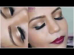 stani indian bridal makeup gold eye
