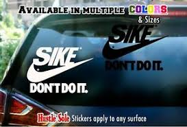 Nike Parody Logo Sticker Sike Dont Do It Car Window Laptop Or Wall Decal 5 Ebay