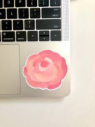 Rose Decal Rose Sticker Laptop Sticker Laptop Decal Etsy