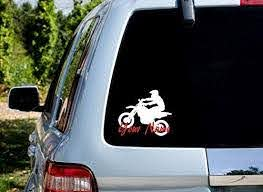 Amazon Com Self Expressions Inc Customized Dirtbike Rider Car Window Vinyl Decal Motocross Sticker Handmade