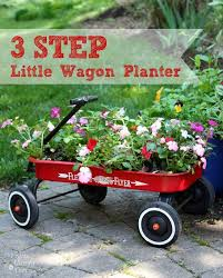 3 step little red wagon planter wagon
