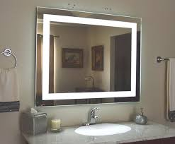 wall mounted bathroom mirror with