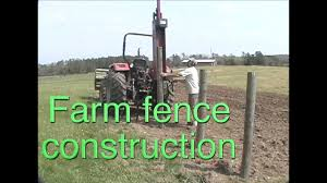 Farm Fence Construction Using A Post Driver The Best Way To Install Posts Hands Down Farmcraft101 Youtube