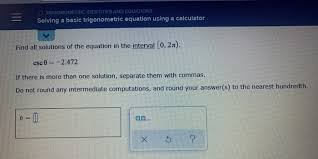 solved o trigonometric identities and