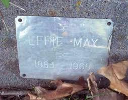MAY, EFFIE - Stone County, Arkansas | EFFIE MAY - Arkansas Gravestone Photos