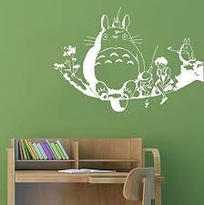 Amazon Com My Neighbour Totoro Wall Decor Decal Baby Kid S Room Sticker Nursery Wall Art Decor Mural White Home Kitchen