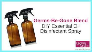 diy essential oil disinfectant spray