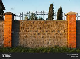 High Fence Made Gray Image Photo Free Trial Bigstock