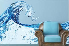 Water Splash Wall Decal Blue Water Wall Mural Vinyl Wall Mural Infinite Graphics Photography Art Removable Vinyl Sticker Home Decor