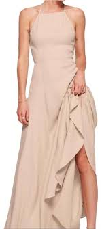 Reformation Nude Myrtle Long Night Out Dress Size 0 (XS) - Tradesy
