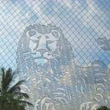 Knitting Chain Link Fencing Into A Work Of Art Fence Art Art Art Articles