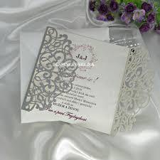 Compre Silver Glitter Florales Invitaciones De La Boda De Lujo