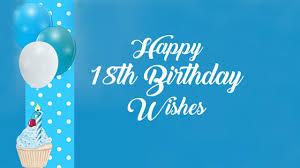 18th birthday wishes happy 18th