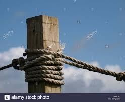 Ropes Around A Post Uk Stock Photo Alamy