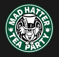Diy Vinyl Decal Coffee Logo Alice S Mad Hatter Tea Party Etsy In 2020 Alice In Wonderland Mad Hatter Tea Party Disney Alice