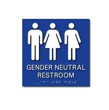 uni gender neutral bathroom signs