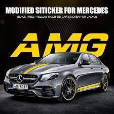 2020 Modified Car Body Sticker Decal Side Skirt Sticker For Benz Amg New E C A Class From Sbason 21 79 Dhgate Com