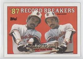 1988 Topps - [Base] #4.2 - '87 Record Breakers - Eddie Murray (Black Box on  Front)
