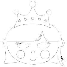 Masker Van De Koningin Kleurplaat C Papiergoed Kleurplaten