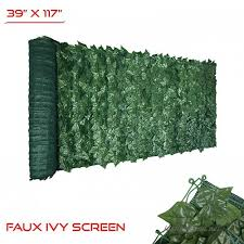 The Patio Shop 39 X 117 Fence Screen Faux Ivy Privacy With Mesh Back Artificial Leaf
