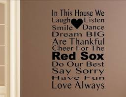 In This House We Cheer For The Red Sox Wall Decor Stickers Contemporary Wall Decals By Vinylsay Llc