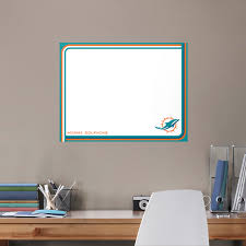 Miami Dolphins Dry Erase Whiteboard X Large Officially Licensed Nfl Removable Wall Decal