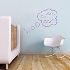 Snoozing Cloud Bedroom Decal Zzz Sticker Murals Kids Cloud Bedroom Appliques Trendy Wall Designs