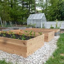 how to build a raised garden bed the