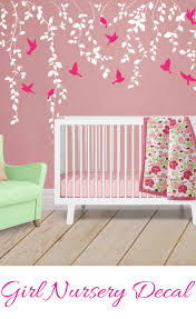 Beautiful Nursery Wall Decal For Girls I Am In Love With The Colors Of It Vine Wall Decal For Baby Girl Nursery Decor Ideias Criativas Ideias Criatividade