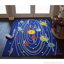 5x7 Kids Boys Children Toddler Playroom Rug Nursery Room Rug Bedroom Rug Fun Colorful Solar System