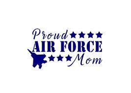 Proud Air Force Airman Mom Or Dad Decal Custom Vinyl Car Window Sticke Customvinyldecals4u