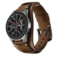 22mm genuine leather cuff watch band