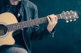 brown cut away guitar hd wallpaper