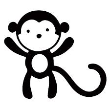 Amazon Com Monkey Vinyl Decal Sticker Kids Home Children Room Decor Handmade