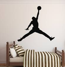Amazon Com Michael Jordan Wall Decal Basketball Wall Decor Home Decor Jumpman Wall Deca Basketball Wall Decals Basketball Wall Decor Sports Wall Decals