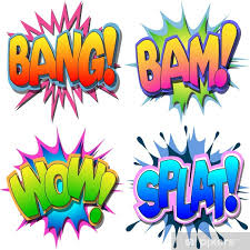 A Selection Of Comic Book Illustrations Bang Bam Wow Splat Wall Mural Pixers We Live To Change