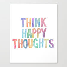 Think Happy Thoughts Nursery Wall Art Kids Room Nursery Printables Baby Girl Nursery Wall Art Canvas Print By Typodesign Society6