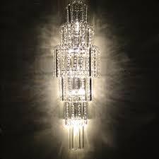crystal wall lighting fixture large big