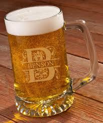 glass 25 oz personalized beer mug