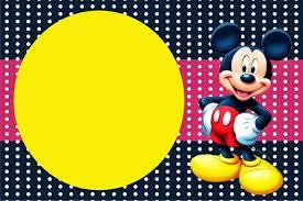 Mickey Rojo Y Amarillo Imprimibles E Invitaciones Para Imprimir