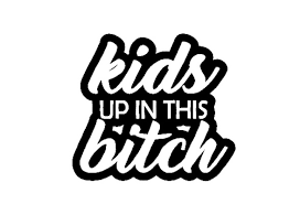 15 2cm 13 7cm Baby On Board Kids Up In This Bitch Mom Life Minivan Vinyl Decal Sticker Car Black Silver C10 00107 Wish