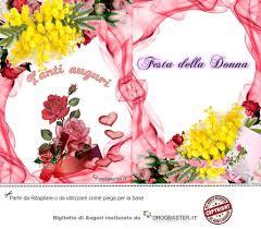 Auguri per la Festa della Donna (8 Marzo): Bigliettini da stampare ...